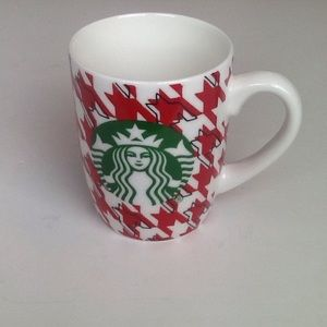Starbucks red/white houndstooth mug.